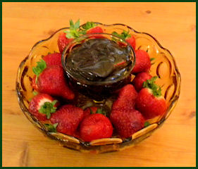 Strawberries and Chocolate at A Comfort Getaway Guesthouse